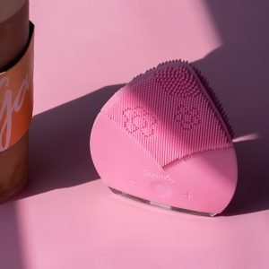 pink sunmay leaf sonic face brush cleansing machine